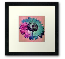 The One With The Rainbow Space Flower Framed Print