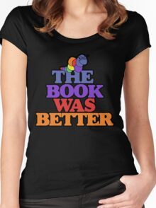The book was better retro bookworm Women's Fitted Scoop T-Shirt
