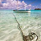 Moored Dhoni. Maldives by JennyRainbow