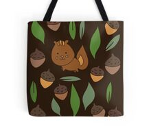 Cute woodland animal chipmunk pattern Tote Bag