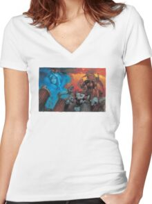 Altered Beast Retro Game Women's Fitted V-Neck T-Shirt