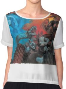 Altered Beast Retro Game Chiffon Top