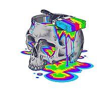 Rainbow Painted Skull Photographic Print