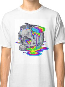 Rainbow Painted Skull Classic T-Shirt