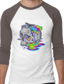 Rainbow Painted Skull Men's Baseball ¾ T-Shirt