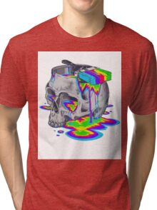 Rainbow Painted Skull Tri-blend T-Shirt