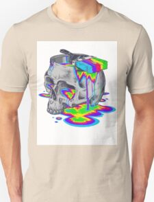 Rainbow Painted Skull Unisex T-Shirt