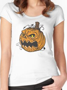 Pumpkin head Women's Fitted Scoop T-Shirt