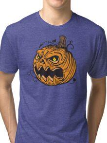 Pumpkin head Tri-blend T-Shirt