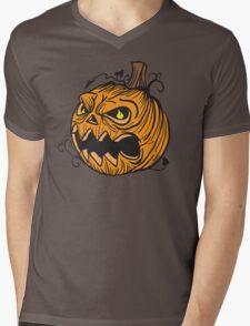 Pumpkin head Mens V-Neck T-Shirt
