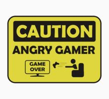 Caution Angry gamer One Piece - Long Sleeve