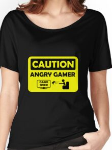 Caution Angry gamer Women's Relaxed Fit T-Shirt