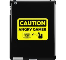 Caution Angry gamer iPad Case/Skin