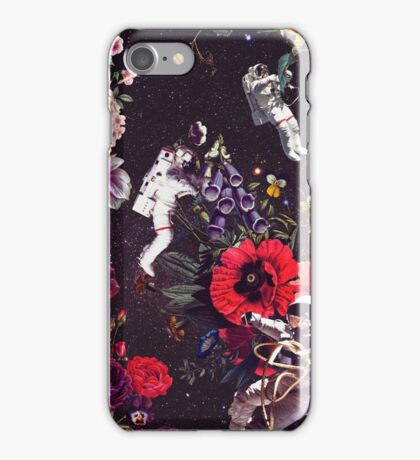 Flowers and Astronauts iPhone Case/Skin