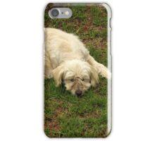White Dog Sleeping iPhone Case/Skin