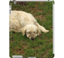 White Dog Sleeping iPad Case/Skin