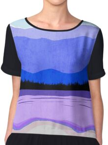Blue Ridge Mountains Chiffon Top