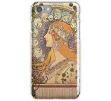 Alphonse Mucha Art Nouveau - La Plume iPhone Case/Skin