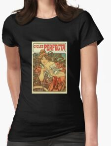 Alphonse Mucha - Art Nouveau - Cycles Perfecta Womens Fitted T-Shirt