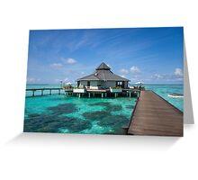 Overwater Restaurant at Maldivian Resort Greeting Card