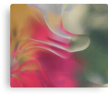 Swirls in Pink and Green - phone case Canvas Print