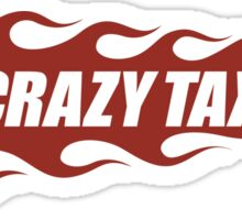 Crazy Taxi Logo Retro 16bit Sticker