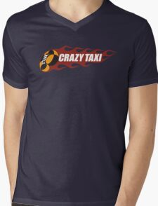 Crazy Taxi Logo Retro 16bit Mens V-Neck T-Shirt