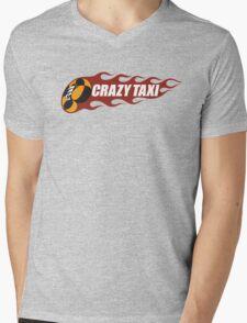 Crazy Taxi Logo Retro 16bit Mens V-Neck T-Shirt