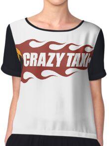 Crazy Taxi Logo Retro 16bit Chiffon Top