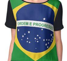 Brazil - Brazilian Flag Chiffon Top