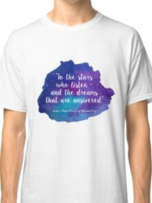 A Court of Mist and Fury - Watercolour Quote Classic T-Shirt