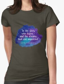 A Court of Mist and Fury - Watercolour Quote Womens Fitted T-Shirt