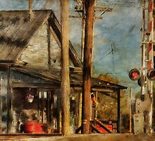 Train's Coming - Berryville Farm Supply by Lois  Bryan