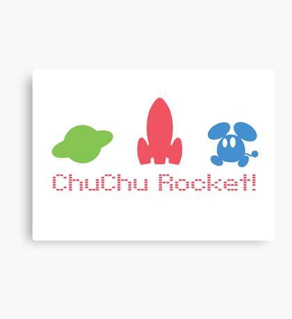 Chu Chu Rocket Icons Retro Canvas Print