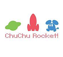 Chu Chu Rocket Icons Retro Photographic Print