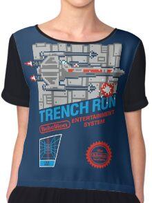 Trench Run Chiffon Top