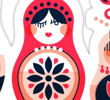 Russian Nesting Dolls – Hot Pink Sticker