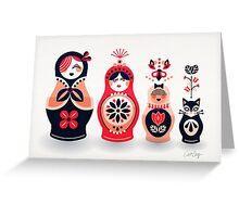 Russian Nesting Dolls – Hot Pink Greeting Card