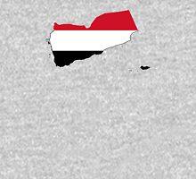 Flag Map of Yemen  Unisex T-Shirt