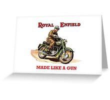 ROYAL ENFIELD BULLET MOTORCYCLE VINTAGE ART Greeting Card