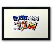 Earthworm Jim Logo Framed Print