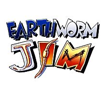 Earthworm Jim Logo Photographic Print