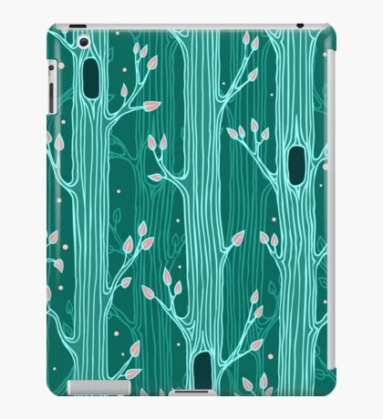 Emerald forest. Seamless pattern with trees iPad Case/Skin