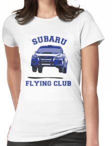 Subaru Flying Club Car Womens Fitted T-Shirt