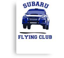Subaru Flying Club Car Canvas Print