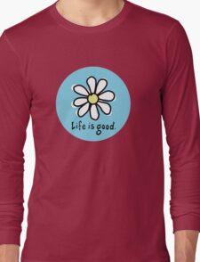 Life is Good Bright Blue Long Sleeve T-Shirt