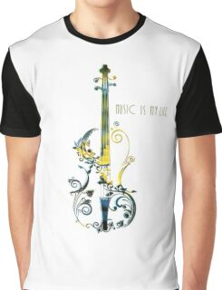 Music Is My Life Graphic T-Shirt