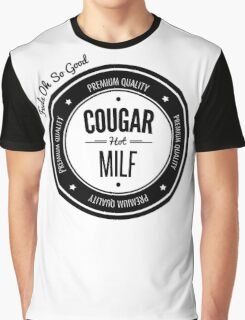 Vintage Retro Cougar Hot Milf T-shirt Graphic T-Shirt