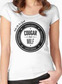 Vintage Retro Cougar Hot Milf T-shirt Women's Fitted Scoop T-Shirt