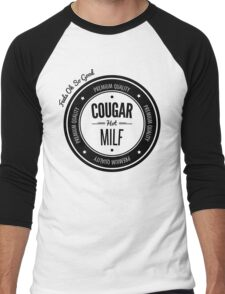 Vintage Retro Cougar Hot Milf T-shirt Men's Baseball ¾ T-Shirt